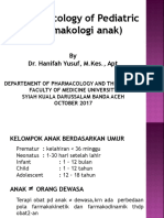 Pharmacology of Pediatric 2017