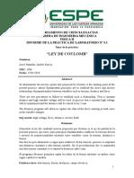 Informe 3.1 Ley de Coulomb