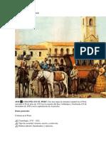 Época Colonial en El Perú