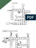 CRUCIGRAMAS DE ANIMALES