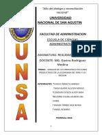 ANALISIS DE LOS PRINCIPALES SECTORES PRODUCTIVOS DE LA ECONOMÍA DEL PERÚ Y SU REGIÓN