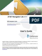 AT&T Navigator v1.1 Lite User's Guide for J2ME