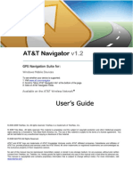 AT&T Navigator v1.2 User's Guide for Windows Mobile Devices