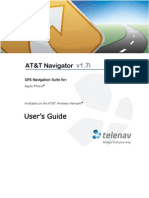 AT&T Navigator v1.7i User's Guide for iPhone
