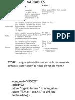 VERIABLES , Estructuras de Control