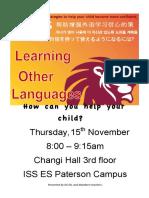 learning languages flyer nov 2018