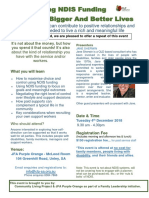 JFA - Using NDIS Funding to Create Bigger and Better Lives Event Flier
