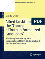[Logic Epistemology and the Unity of Science 39] Gruber, Monika_ Tarski, Alfred - Alfred Tarski and the _Concept of Truth in Formalized Languages__ a Running Commentary With Consideration of the Polish Original and