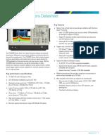 RSA5000 Series Spectrum Analyzers Datasheet 37W2627416 0