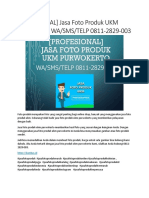 [PROFESIONAL] Jasa Foto Produk UKM Purwokerto, WA/SMS/TELP 0811-2829-003