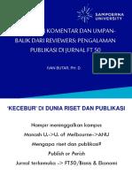 4. Panduan Merespon Umpan Balik Dari Reviewers - Ivan B, PhD