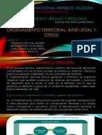 Ordenamiento Territorial, Base Legal y Otros