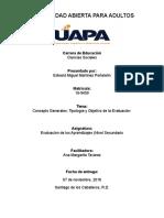 Tarea I Evaluación de los Aprendizajes (Nivel Secundario).doc