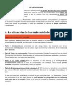 Ley Universitaria en el Perú