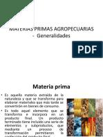 Materias Primas Agropecuarias - Generalidades