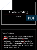 1. Close Reading Analysis Higher