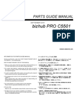 Bizhub Proc 5501 Parts Manual