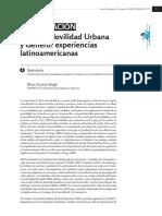 Jiron Zunino Movilidad Urbana y Genero Experiencias Latinoamericanas
