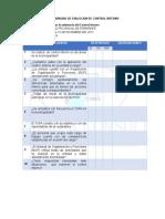 Cuestionario de Evalucion de Control Interno