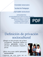 Deprivacion Sociocultural