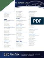 Atlas Polar Dealer List Provinces