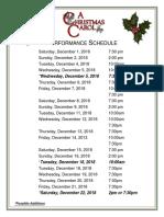 Christmas Carol Performance Schedule