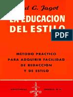 La educación del estilo - Paul C. Jagot-FREELIBROS.ORG.pdf