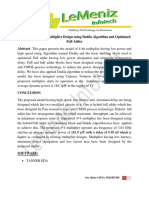 Low Power 4×4 Bit Multiplier Design using Dadda Algorithm and Optimized Full Adder