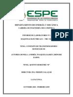 Informe Práctica 1. Conexión de Transformadores Monofásicos