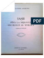 A. Andronic. Iasii pana in secolul XVII