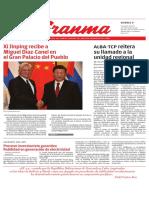 Diario granma. 9 de noviembre de 2018. p.1