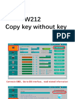 w212 Copy Key Without Key With Cgdi Mb