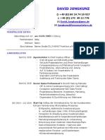 David Jungkunz Lebenslauf CV lange Version - Stand Nov 2018