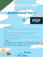 achievement test 3