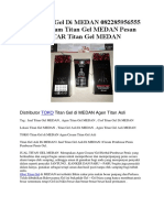 Toko Titan Gel Di MEDAN 082285956555 Agen Cream Titan Gel MEDAN