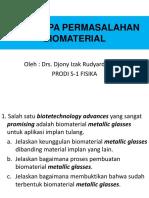 Beberapa Permasalahan Biomaterial