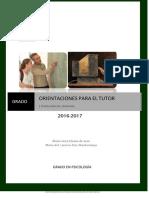Orientaciones TUTOR 2016-2017