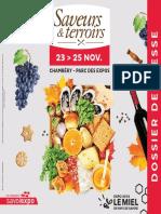 Dossier de presse Saveurs&Terroirs 2018
