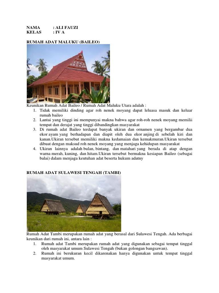 Rumah Adat Baileo Asal Provinsi Dan Keunikan Ilmusosial Id