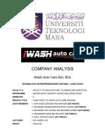 ENT600 - Case Study IWash Auto Care