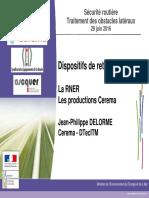 Présentation de la Réglementation Nationale des Equipements de la Route (RNER) CEREMA