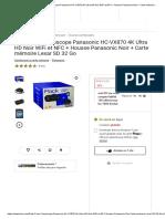 -17% sur Pack Fnac Caméscope Panasonic HC-VX870 4K Ultra HD Noir WiFi et NFC + Housse Panasonic Noir + Carte mémoire Lexar SD 32 Go - Caméscope à carte mémoire - Achat & prix _ fnac