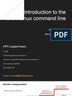 Introduction to the Linux and Unix Command