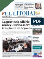 El Litoral Mañana | 09/11/2018