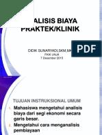 Analisis Pembiayaan Praktek Dokter Keluarga Didik Unja 2015