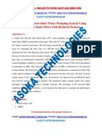 Standalone Photovoltaic Water Pumping System Using Induction Motor Drive with Reduced Sensors