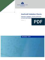 AnaCredit Validation Checks 201811.En