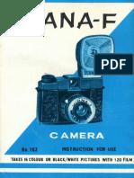 Diana-F Camera Manual