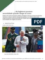 Príncipe Charles Da Inglaterra Promete Neutralidade Quando Chegar Ao Trono - Mundo