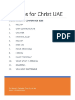 CFC UAE Music Ministry Conference 2018 - Songsheet